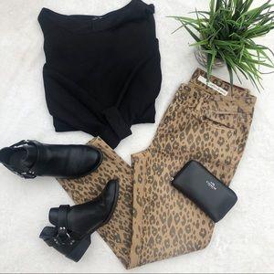 DKNY Cheetah Print Skinny Jeans